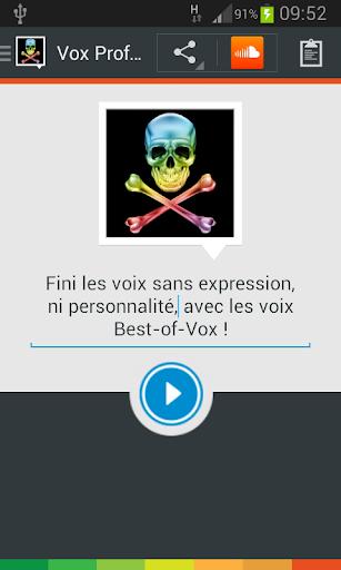 Vox Profundis voice French