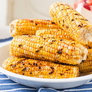 Grilled Corn with Honey-Ginger Barbecue Sauce Recipe