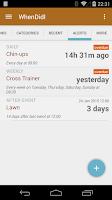 Screenshot of WhenDidI Lite - Event Logger