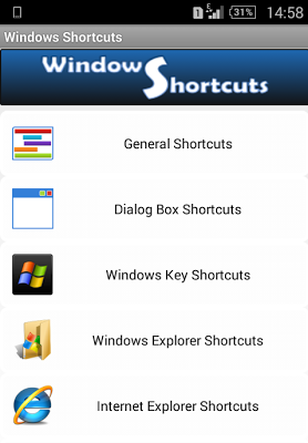 Windows Shortcuts - screenshot