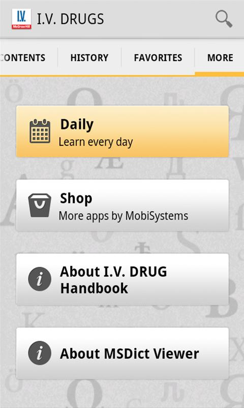 I.V. Drug Handbook - screenshot