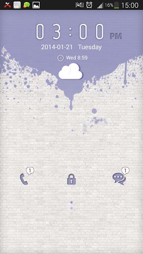 玩免費個人化APP|下載GOロッカーパープルスプラッシュ app不用錢|硬是要APP