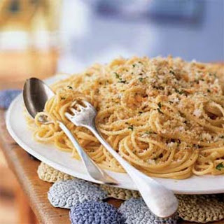 Spaghetti with Anchovies and Breadcrumbs.