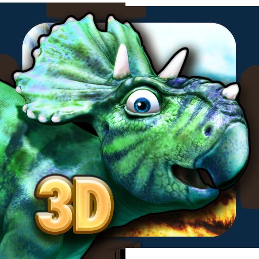 恐龙走路好玩的3D恐龙益智游戏为男孩和女孩的史前动物 冒險 App LOGO-APP試玩