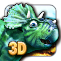 Dinosaurs walking with fun 3D