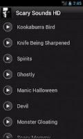 Screenshot of Scary Sounds HD