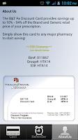 Screenshot of Discount Prescription Rx Card