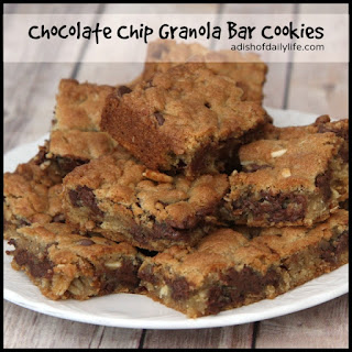 Chocolate Chip Granola Bar Cookies