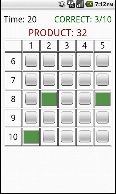 Times Table Grid Game- screenshot