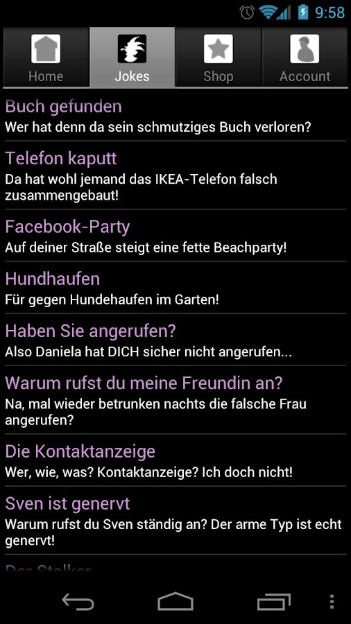 PhonyCall Telefonstreiche - screenshot