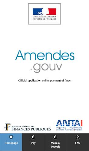 Amendes.gouv Android App Screenshot