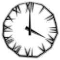 Black Icicle Transparent Clock icon