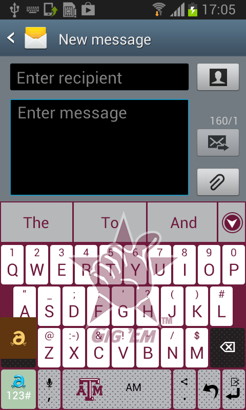 Texas A&M Keyboard - screenshot