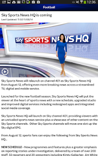 Sky Sports for Android - screenshot thumbnail
