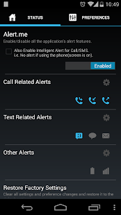 Missed Call/SMS Alert.me - screenshot thumbnail