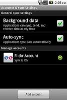 Screenshot of Flickr Sync