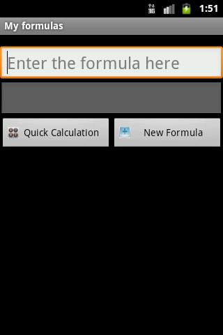My formulas