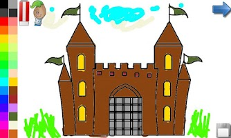 Screenshot of Coloring Book: House & Castle!