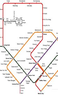 新加坡地铁与轻轨地图