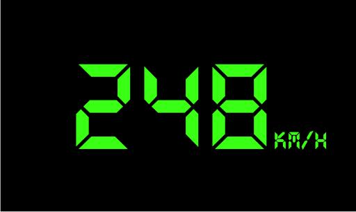 Digital neon speedometer