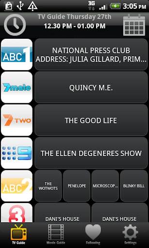 TV & Movie Guide Australia 2.10 screenshots 1