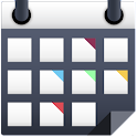 Calendar with colors icon