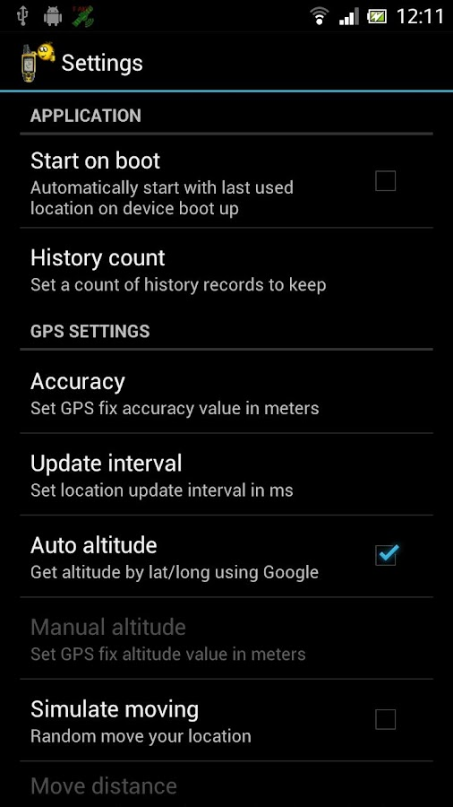 Fake GPS Location Donate - screenshot