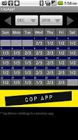Screenshot of CopApp ! Calendar Schedule