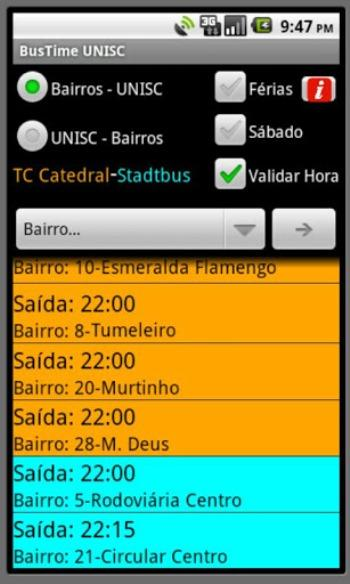 BusTime UNISC- screenshot