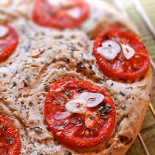 Tomato-Garlic Focaccia - Italian Flatbread