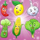 水果和蔬菜的孩子 ! icon