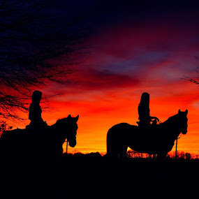 My girls , riding off into the sunset,,,,    (: by Crissy Barnes Blanton - People Street & Candids
