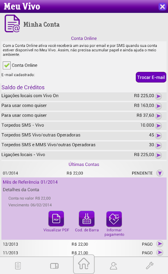 Meu Vivo App - screenshot