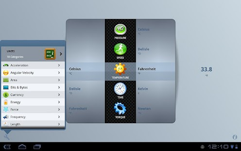 Unit Converter for Tablets - screenshot thumbnail