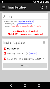 MultiROM Manager Screenshot 1