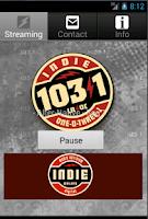 Screenshot of Indie 103.1