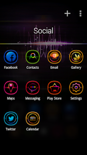 Light Wave GO Launcher Theme- screenshot thumbnail