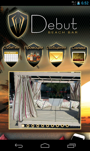 Debut beach bar