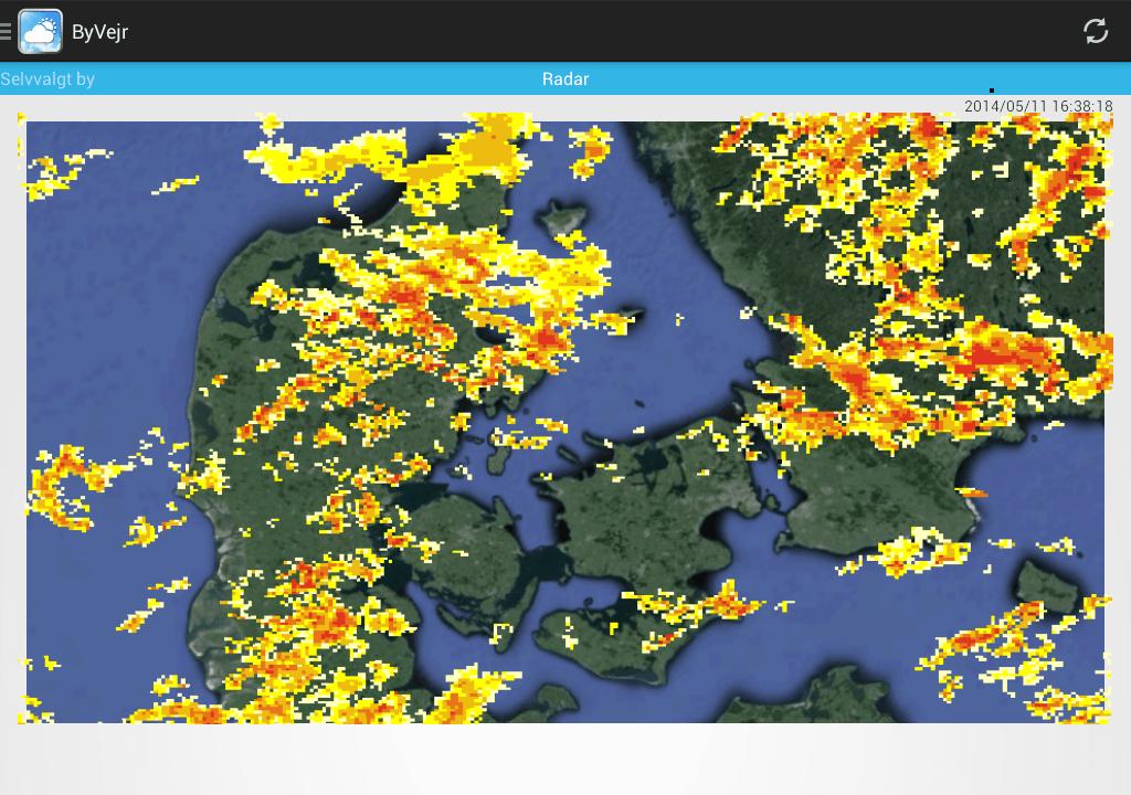 ByVejr - DMI - Vejret - screenshot