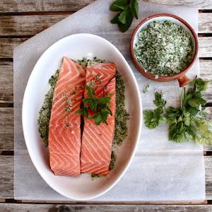 Salmon in Mint Marinade