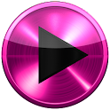 Poweramp SKIN PINK METAL SKIN icon