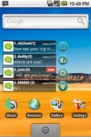 Screenshot of Smile SMS Widget