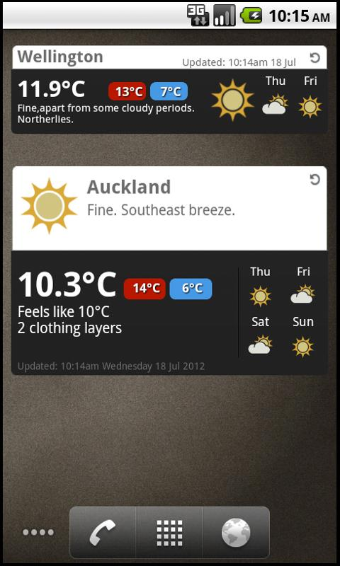MetService- screenshot