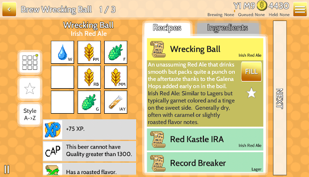 Fiz : Brewery Management Game apk screenshot
