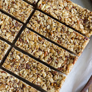 Healthy Chewy Apple Cinnamon Granola Bars.