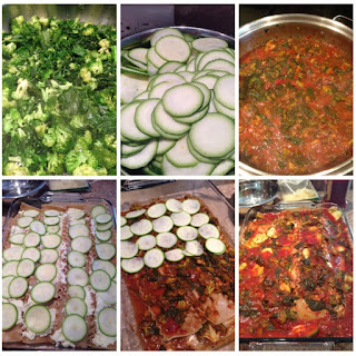 Kale, Spinach, Broccoli and Zucchini Lasagna