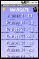 Screenshot of Thousand Praises (English)