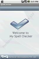 Screenshot of My Spell Checker