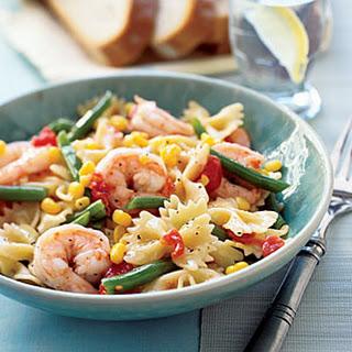 Pasta with Shrimp and Veggies.