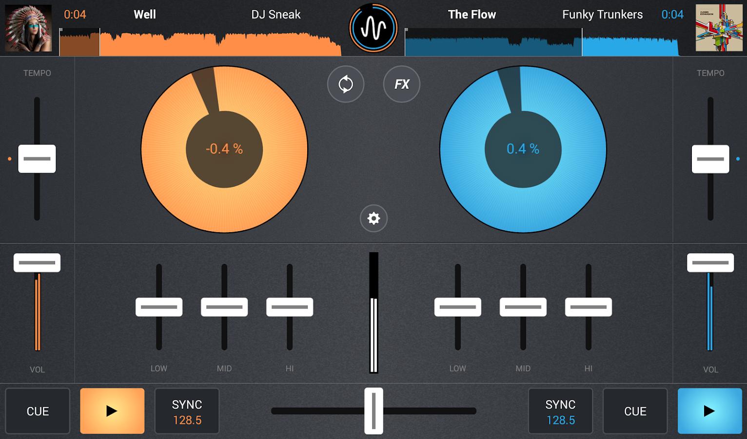 Cross DJ - screenshot